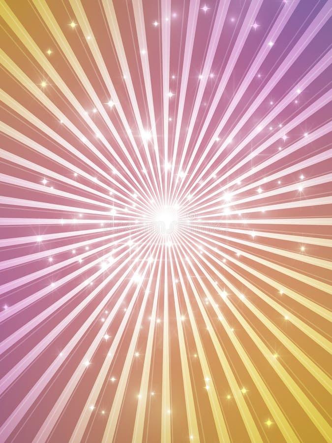 Предпосылка Showtime - торжество в золоте и пурпуре - праздники и фара бесплатная иллюстрация