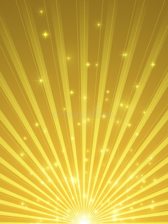 Предпосылка Showtime - торжество в золоте и пурпуре - праздники и фара иллюстрация вектора