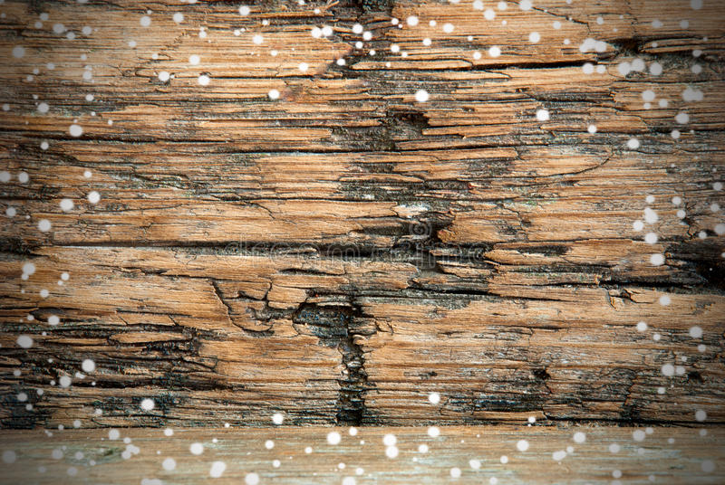 Предпосылка Snowy деревянная стоковое фото rf