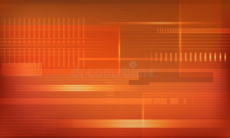 Предпосылка techno вектора оранжевая иллюстрация вектора