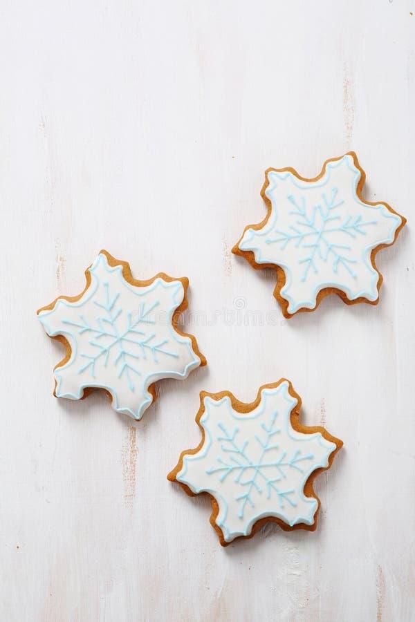 Предпосылка Xmas с печеньями стоковая фотография