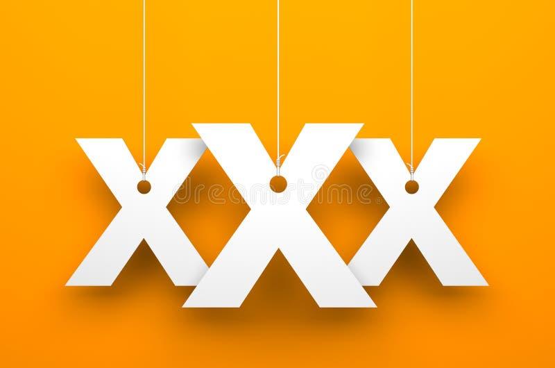 Предпосылка XXx иллюстрация вектора