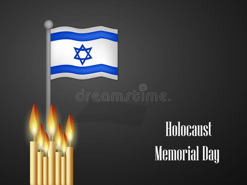 Предпосылка Yom HaShoah бесплатная иллюстрация