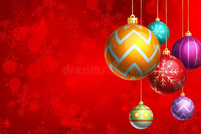 предпосылки заретушированные орнаменты рождества тщательно запятнанными иллюстрация штока