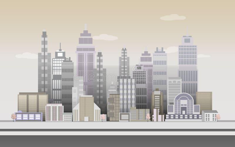 Предпосылки игры города, 2d применение игры иллюстрация вектора