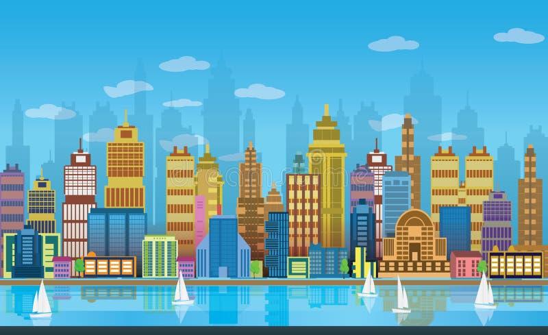 Предпосылки игры города, 2d применение игры бесплатная иллюстрация