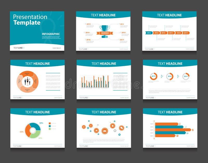 Предпосылки дизайна шаблона Infographic PowerPoint Комплект шаблона представления дела иллюстрация вектора