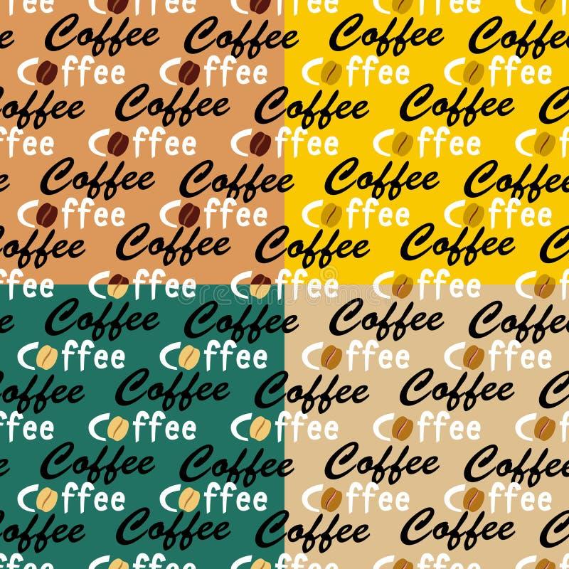 Предпосылки кофе безшовные иллюстрация вектора