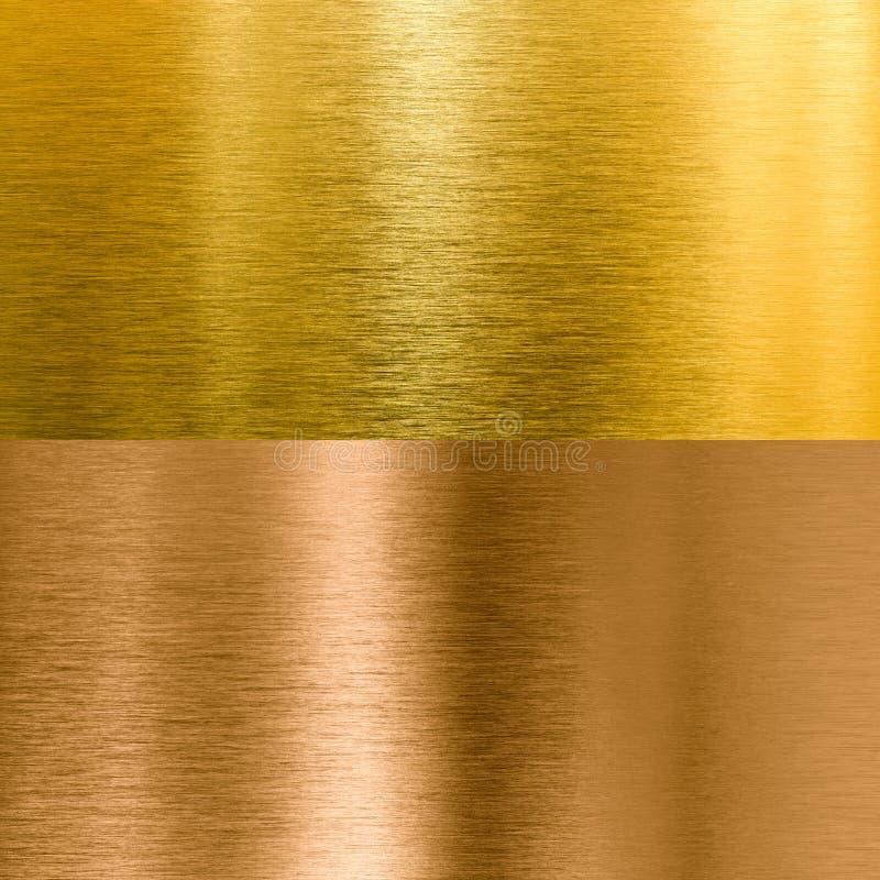Предпосылки текстуры металла золота и бронзы стоковая фотография rf