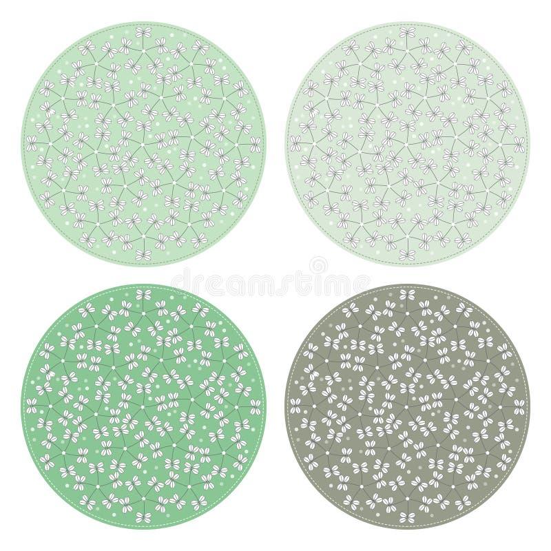 Предпосылки цветочного узора круглые иллюстрация штока