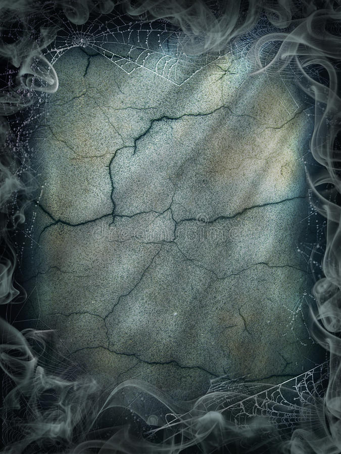 Предпосылки дыма хеллоуина паутина волшебной волшебная темная стоковое фото