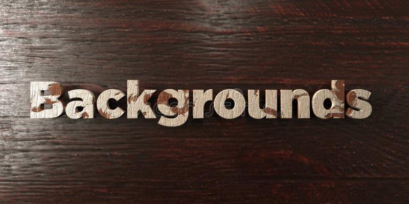 Предпосылки - grungy деревянный заголовок на клене - представленное 3D изображение неизрасходованного запаса королевской власти иллюстрация вектора