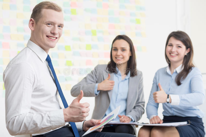 Предприниматели с положительной ориентацией стоковое изображение