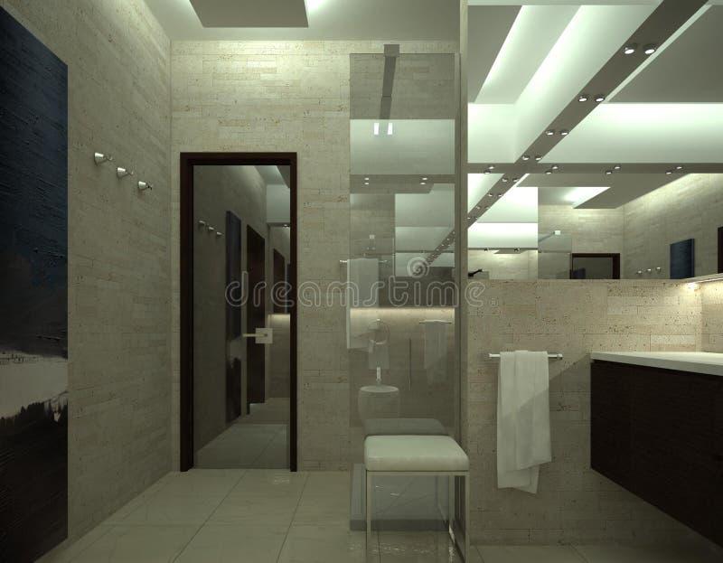 Представьте роскошного туалета иллюстрация вектора