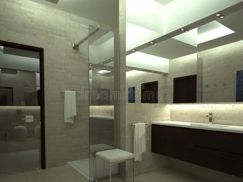 Представьте роскошной ванной комнаты иллюстрация штока