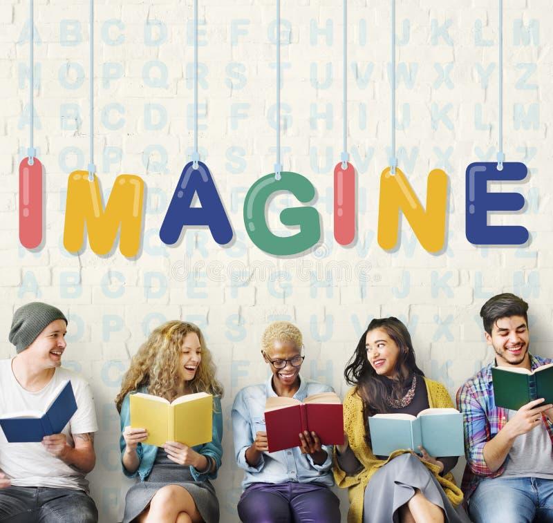 Представьте, что творческие идеи думают концепция мечты зрения стоковое изображение rf