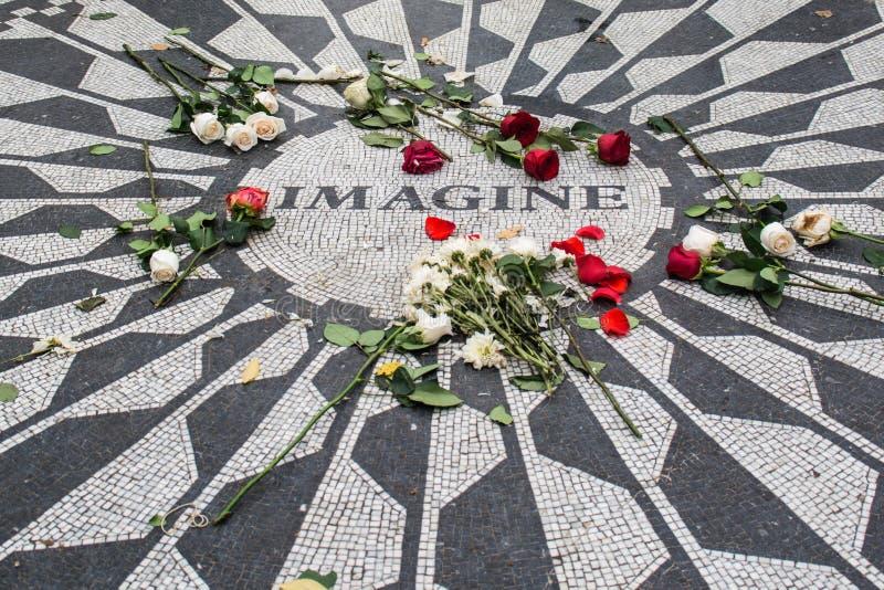 Представьте для того чтобы подписать внутри Central Park стоковая фотография rf