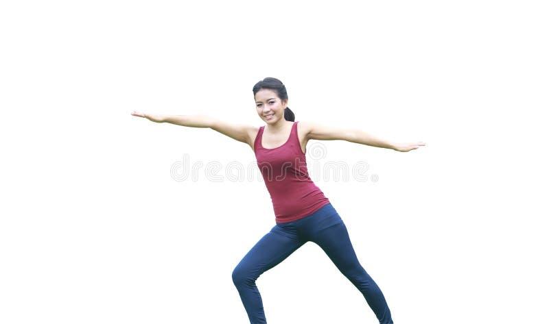 Представление и простирание йоги стоковые фото