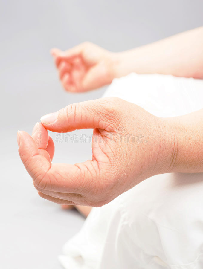 Представление йоги раздумья стоковые изображения rf