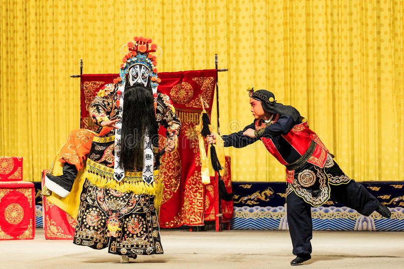 Представление оперы Пекина стоковое фото rf