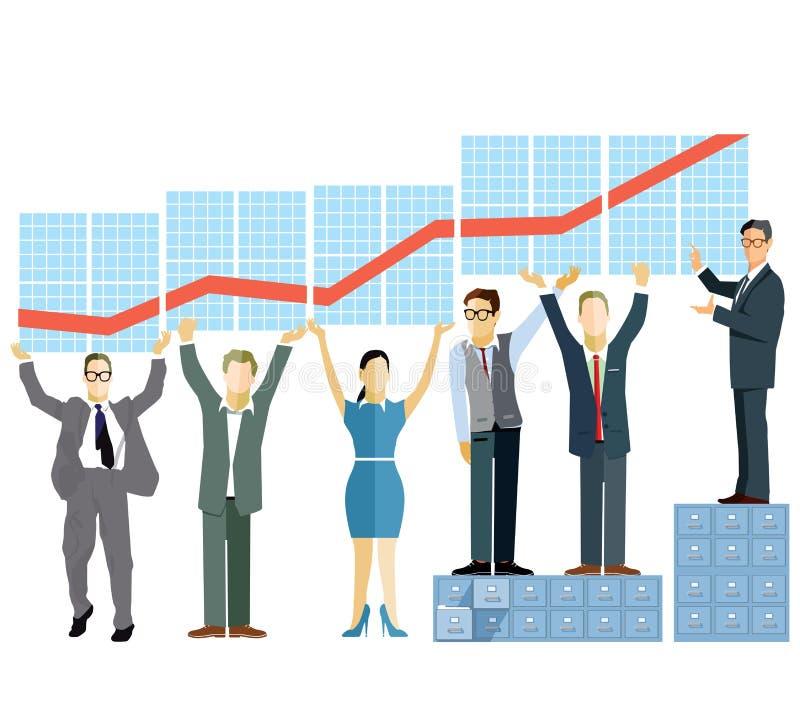 Представление эффективности бизнеса иллюстрация штока