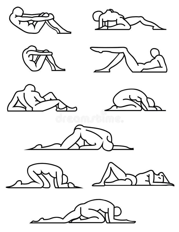 Представления протягивать/йоги. Вектор eps8/искусство зажима стоковые изображения