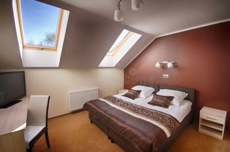 представленная молния окружающей спальни 3d нутряная стоковые фотографии rf