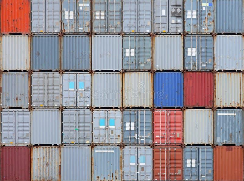 представленное изображение грузовых контейнеров 3d стоковые фотографии rf