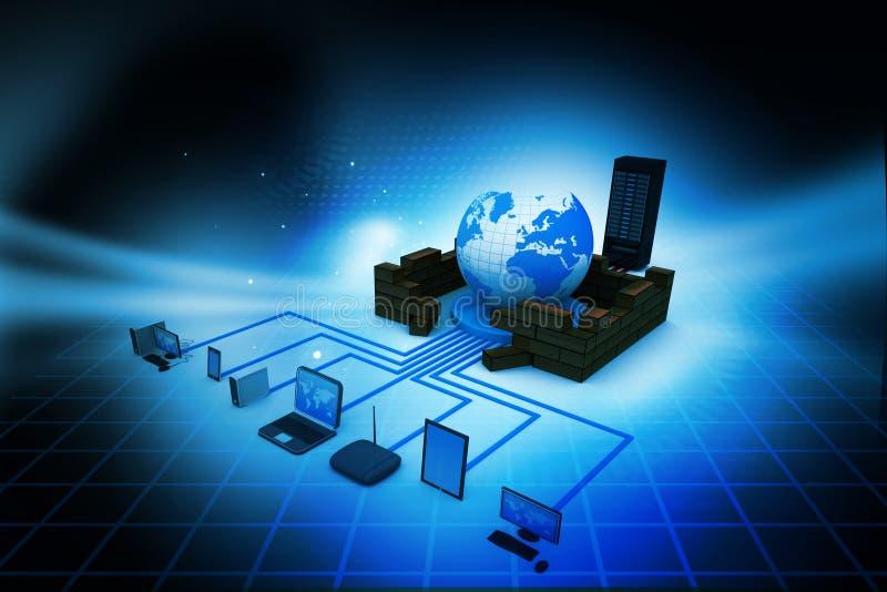 представленное изображение компьютерной сети 3d