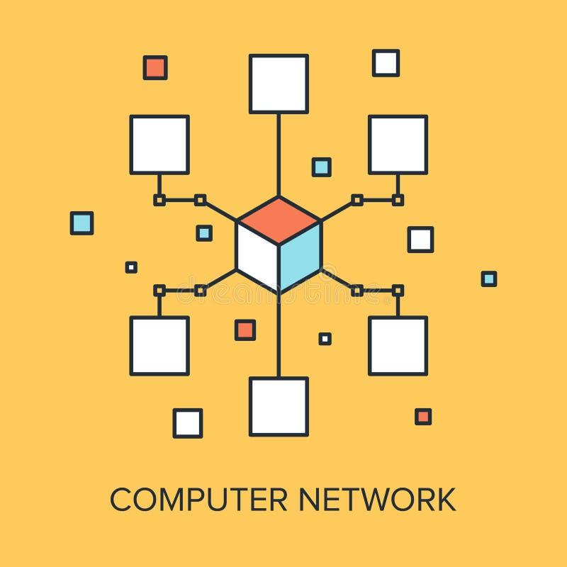 представленное изображение компьютерной сети 3d бесплатная иллюстрация