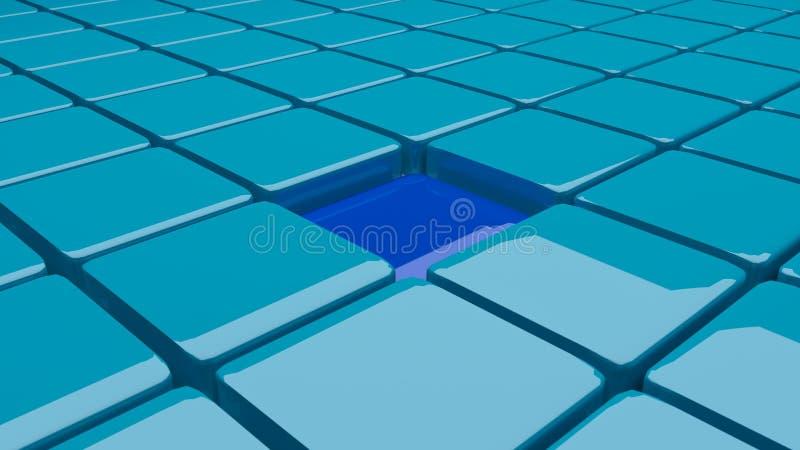 представленные блоки 3d иллюстрация вектора