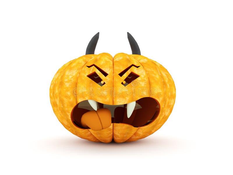 Представленные тыквы хеллоуина иллюстрация штока
