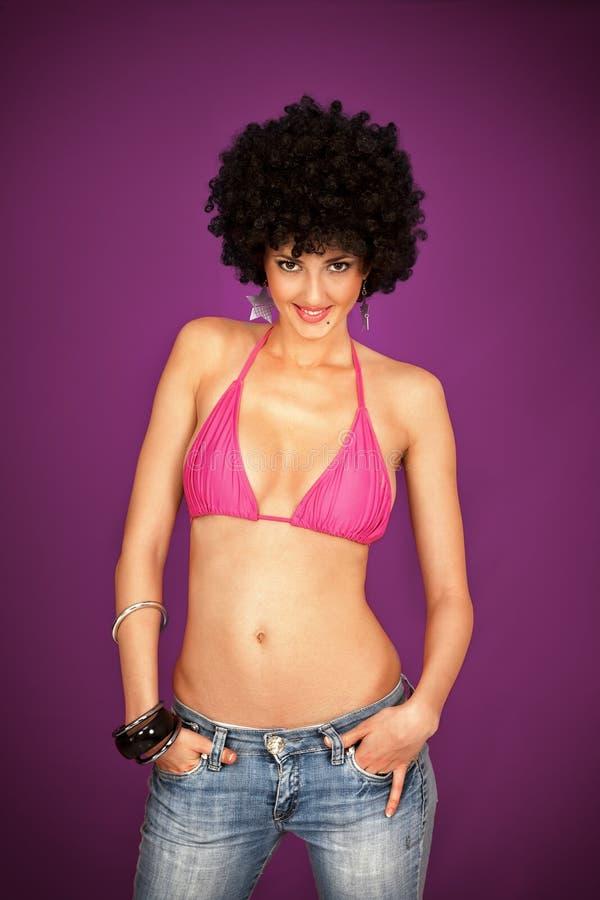 Представлять девушки диско стоковая фотография rf