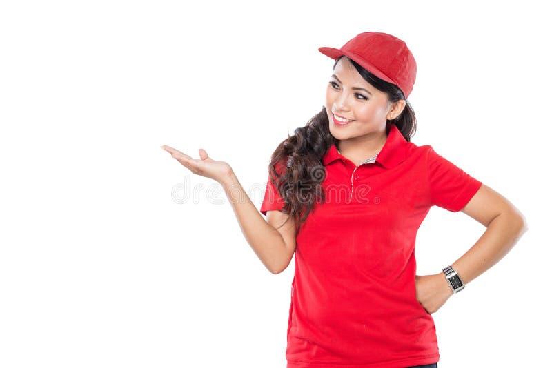 Представлять женщины поставки молодой азиатский стоковые изображения rf