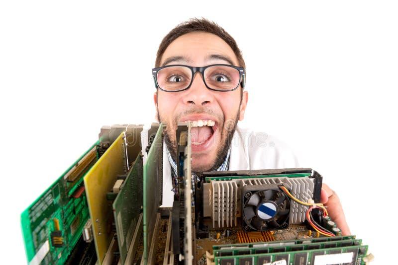 Представлять инженера болвана стоковое фото rf