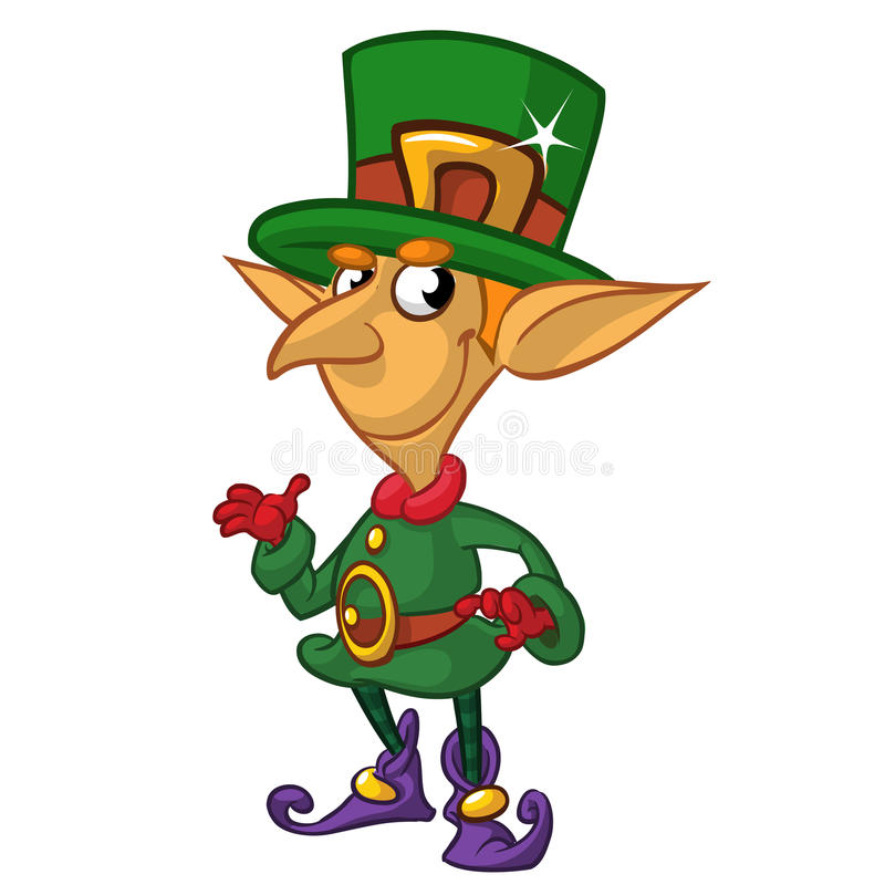 Представлять персонажа из мультфильма лепрекона дня St Patricks также вектор иллюстрации притяжки corel иллюстрация вектора