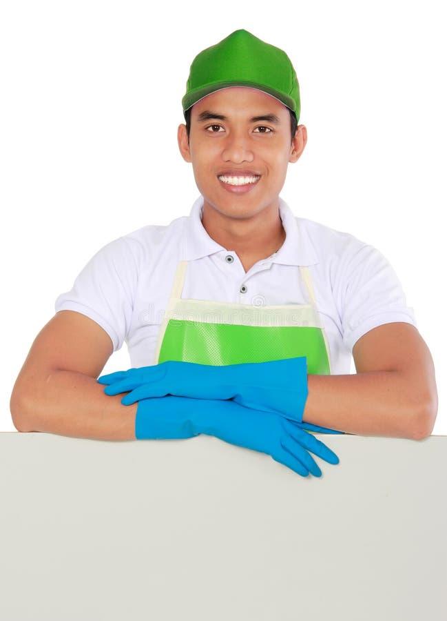Download Представлять человека уборки Стоковое Фото - изображение насчитывающей уговариваний, изолировано: 37928704