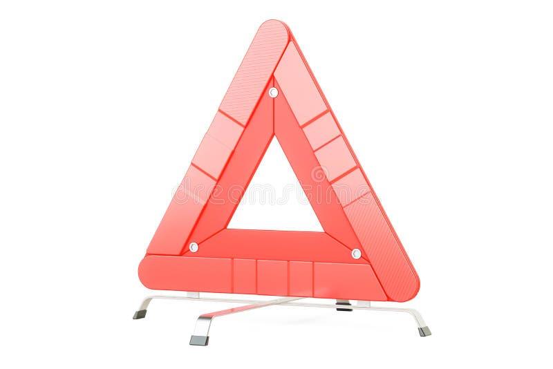 Предупреждающий треугольник, перевод 3D иллюстрация вектора
