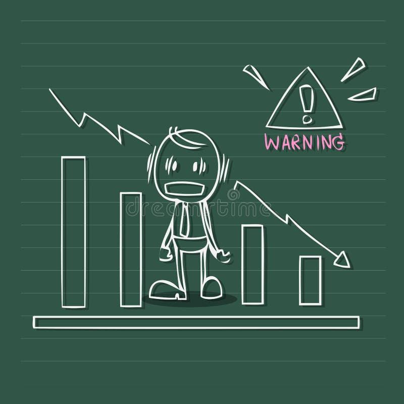 Предупреждение дела иллюстрация вектора