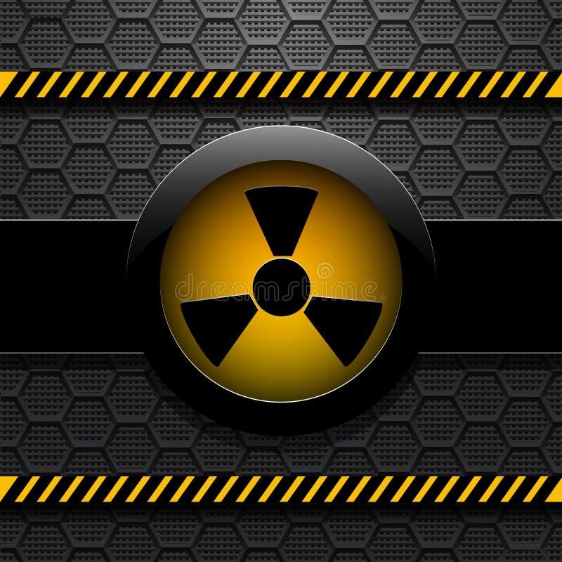 Предупреждение радиации, eps 10 иллюстрация штока