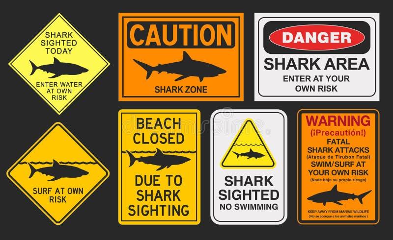 Предупредительные знаки акулы бесплатная иллюстрация