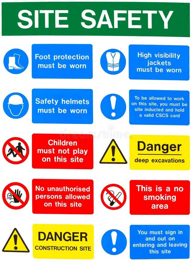 Предупредительные сообщения здоровья и безопасности стоковые изображения rf