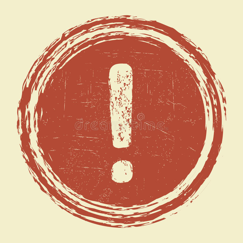 Предупредительный знак возгласа Grunge бесплатная иллюстрация