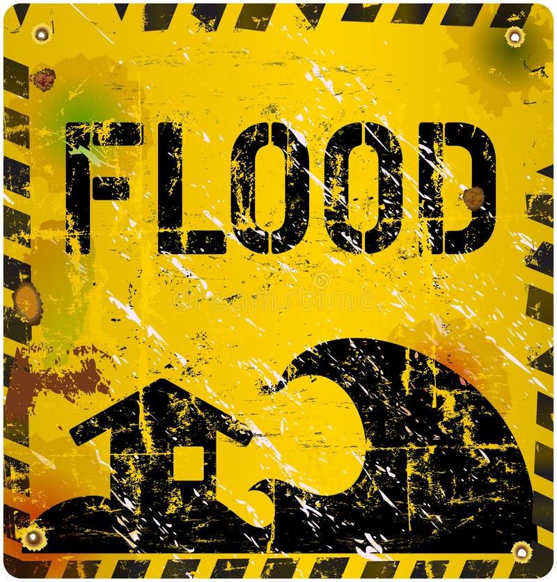 Предупредительный знак потока, иллюстрация штока
