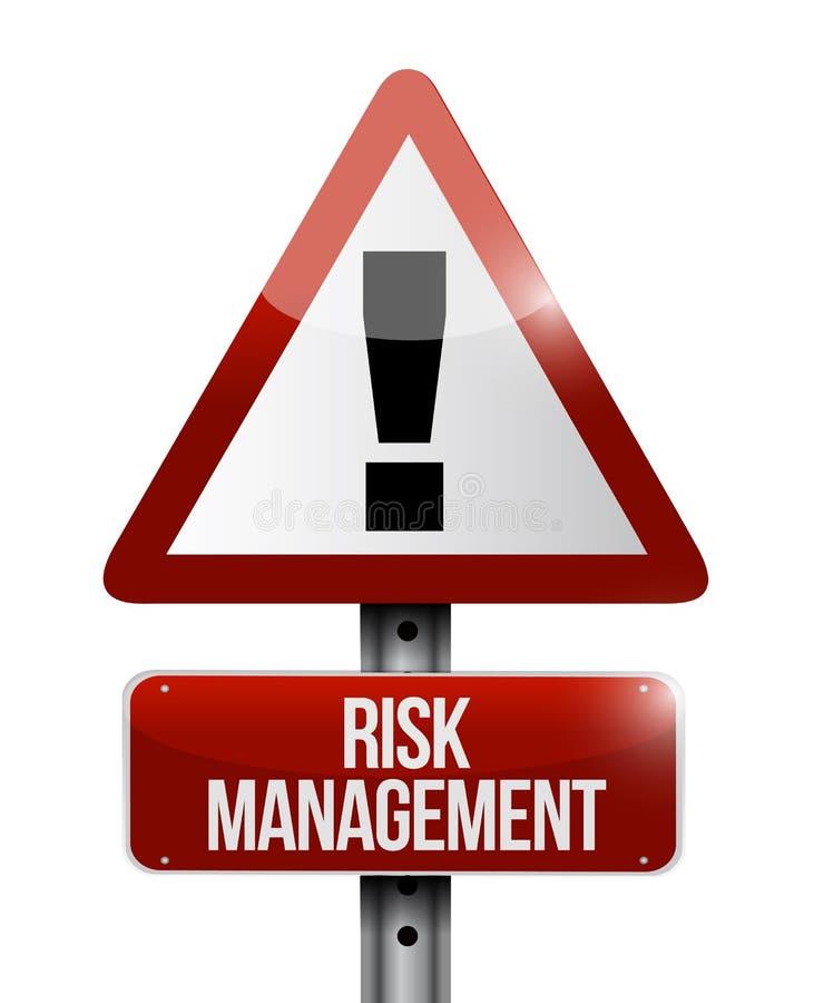 предупредительный знак управление при допущениеи риска бесплатная иллюстрация