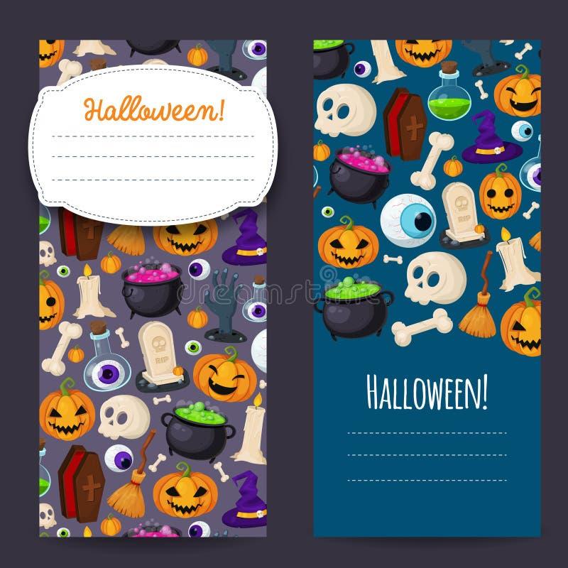 Предусматрива хеллоуина с традиционными значками для вашего дизайна иллюстрация вектора