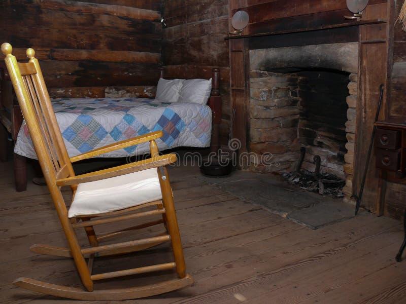 Предыдущая американская комната сельского дома стоковое фото