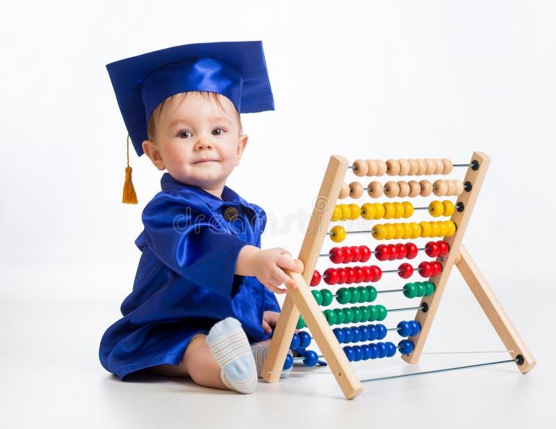 Предыдущий уча младенец стоковое фото rf