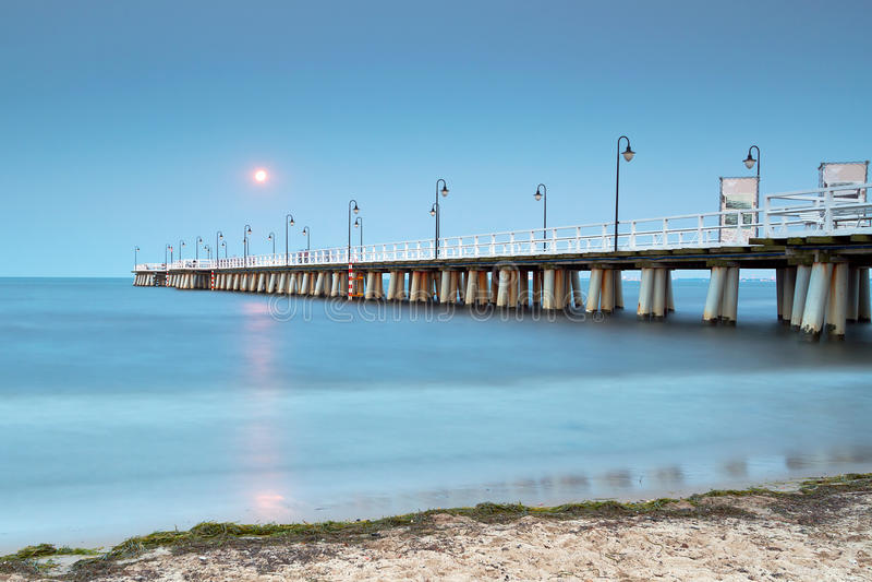 Прибалтийская пристань в Гдыня Orlowo стоковая фотография