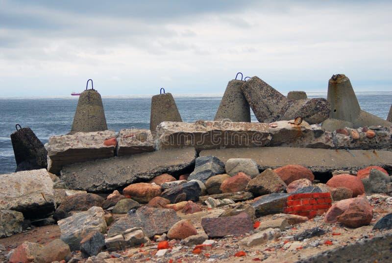 Прибалтийский вертел Взгляд Балтийского моря стоковые изображения rf